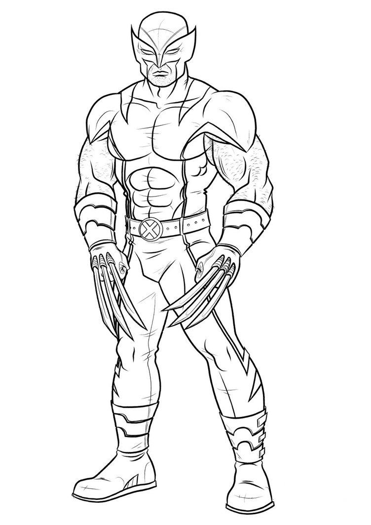 wolverine coloring printable wolverine coloring pages coloring wolverine
