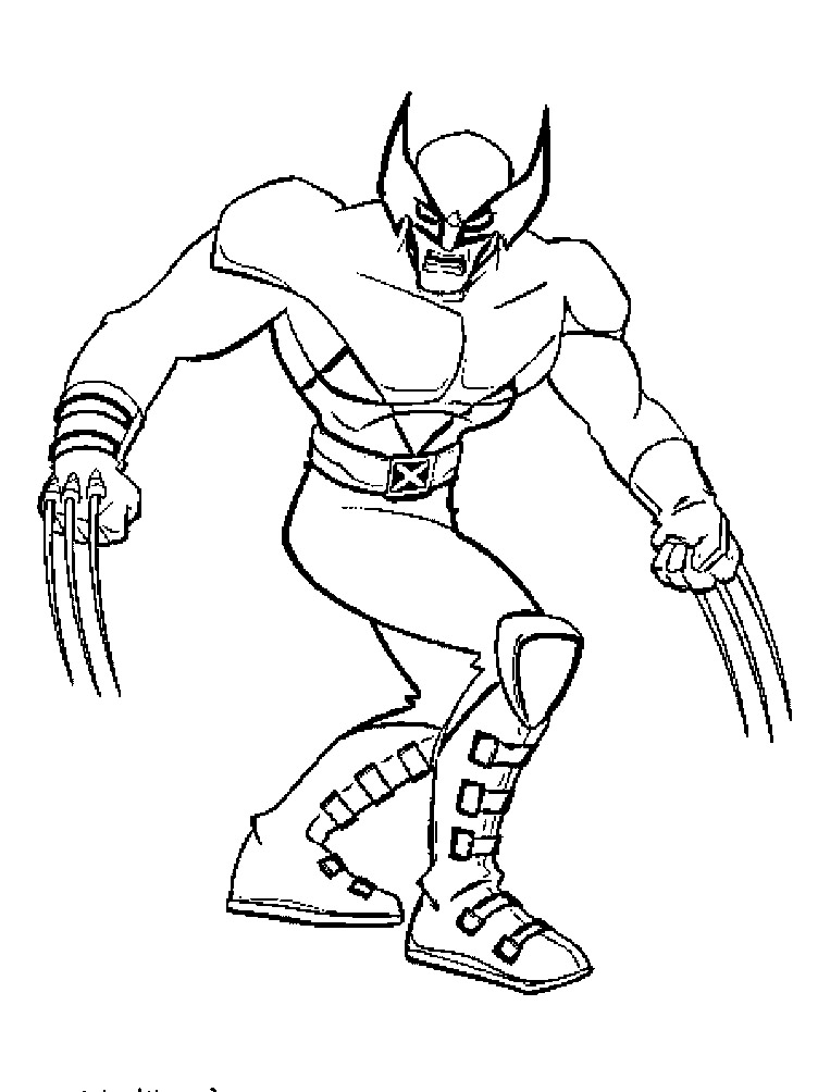 wolverine coloring sheet wolverine coloring pages to download and print for free sheet coloring wolverine 1 1