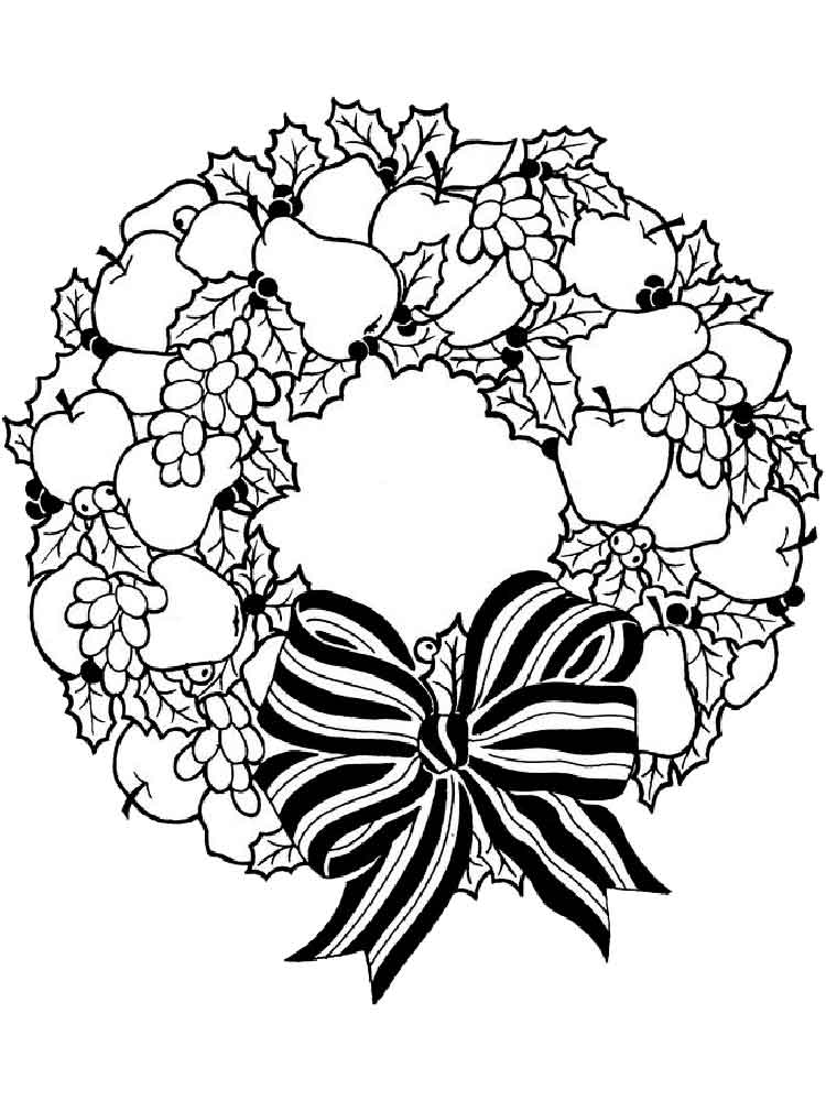 wreath coloring pages christmas wreath free colouring pages pages wreath coloring