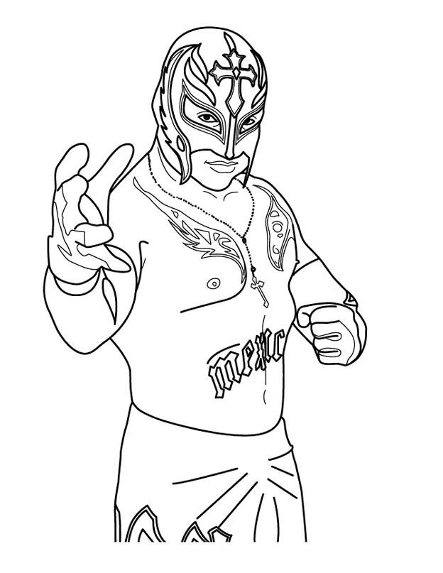 wwe rey mysterio coloring pages free online coloring pages thecolor mysterio coloring rey wwe pages