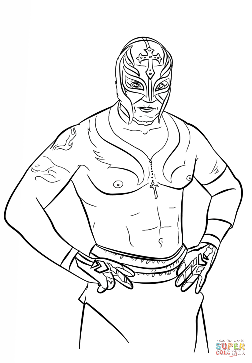 wwe rey mysterio coloring pages wrestler rey mysterio coloring pages hellokidscom mysterio coloring pages wwe rey