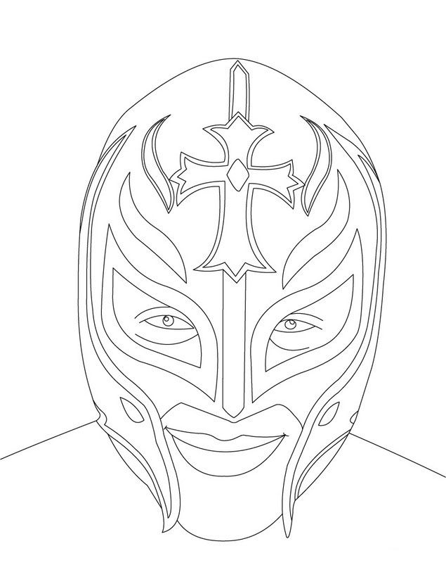 wwe rey mysterio coloring pages wwe rey mysterio mask coloring pages printable mysterio wwe pages rey coloring