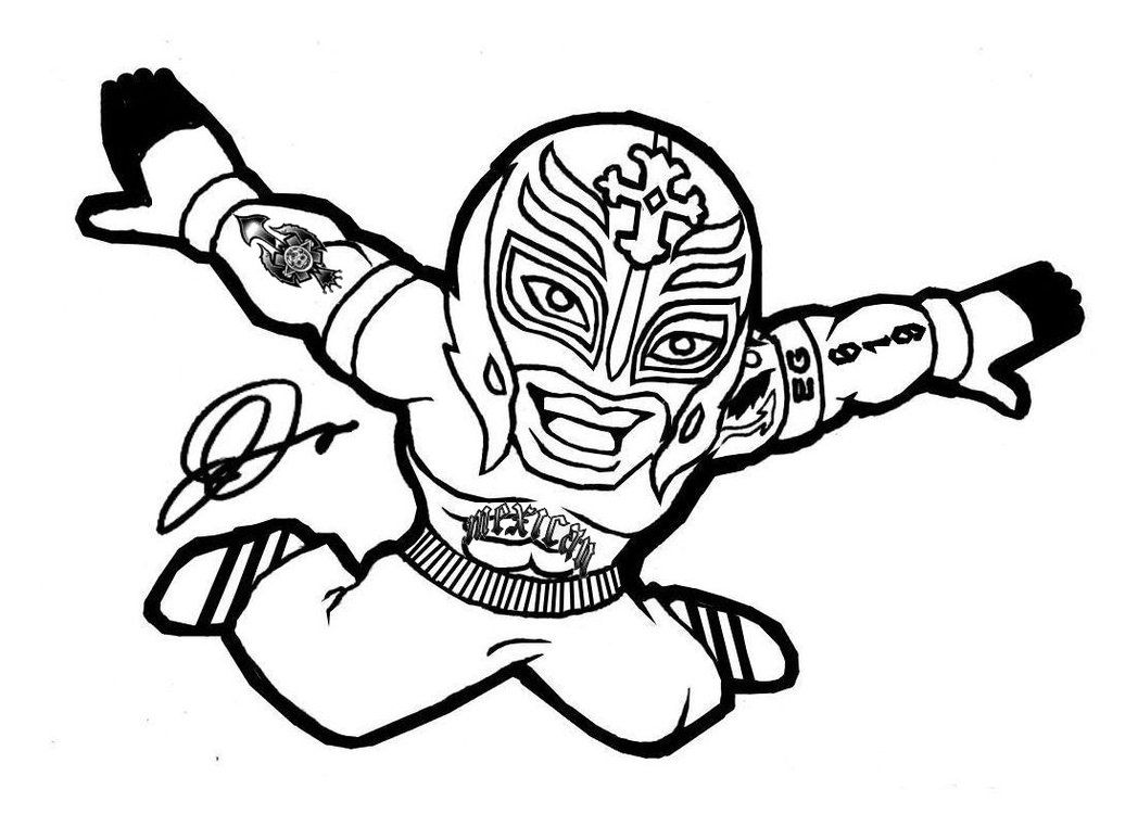 wwe rey mysterio coloring pages wwe superstars colouring pages wwe coloring pages pages wwe mysterio rey coloring