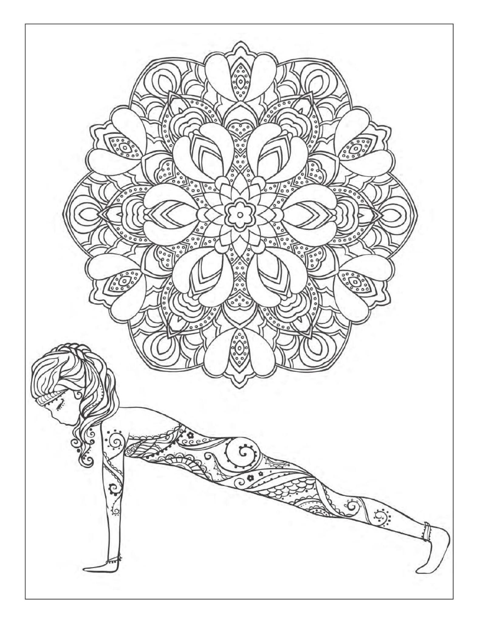 yoga mandala coloring pages yoga and meditation coloring book for adults with yoga coloring mandala yoga pages