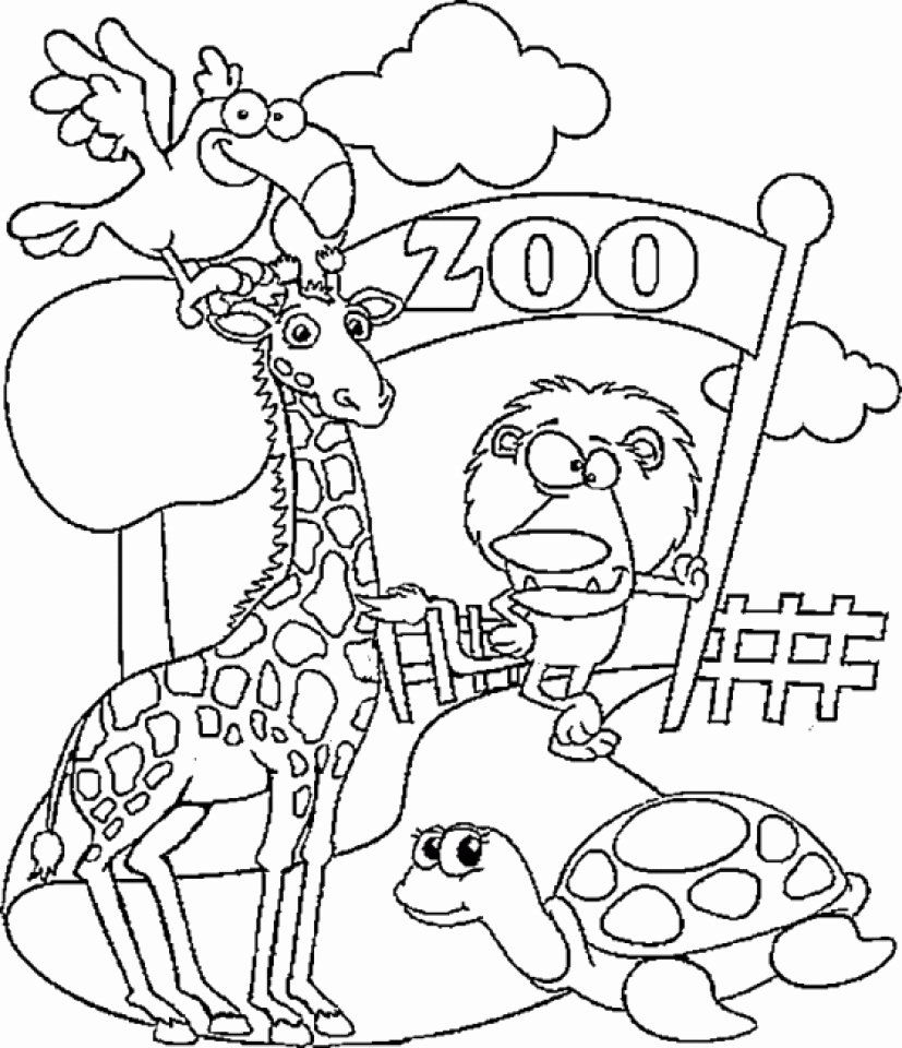 zoo animal coloring pages to print zoo animal coloring pages elegant get this preschool zoo animal zoo to coloring pages print