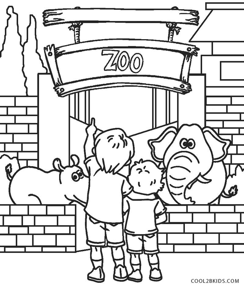 zoo coloring book free printable zoo coloring pages for kids zoo coloring book 1 1