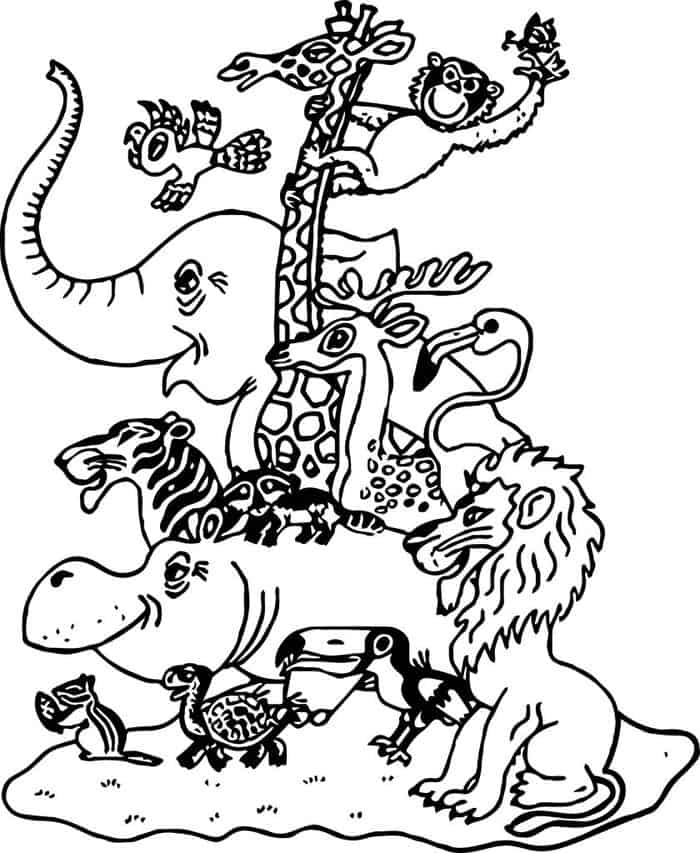 zoo coloring book printable zoo coloring pages for kids book zoo coloring