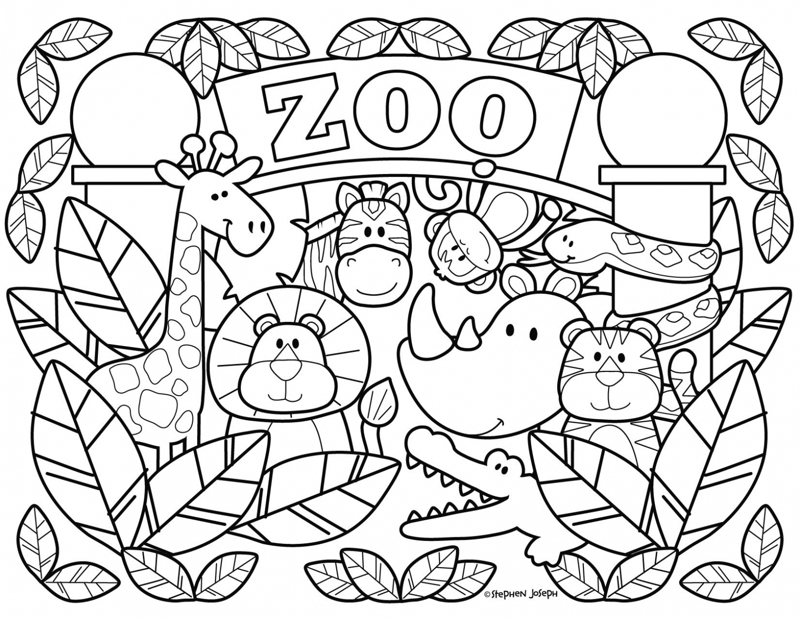 zoo coloring page coloring for kids coloring games for girls coloring coloring zoo page