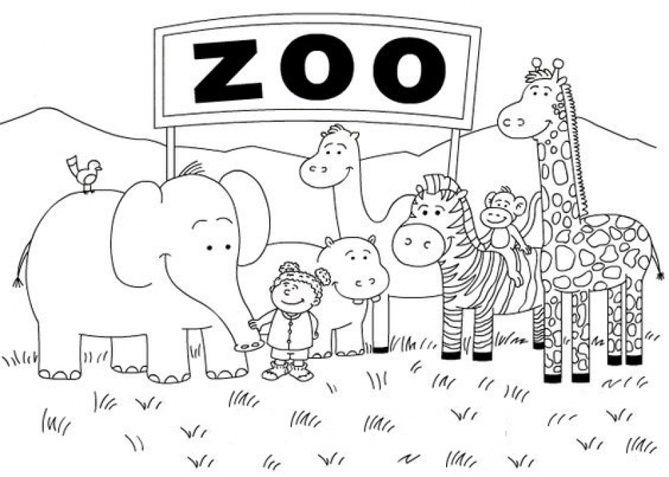 zoo coloring page get this zoo coloring pages free to print 56347 page zoo coloring