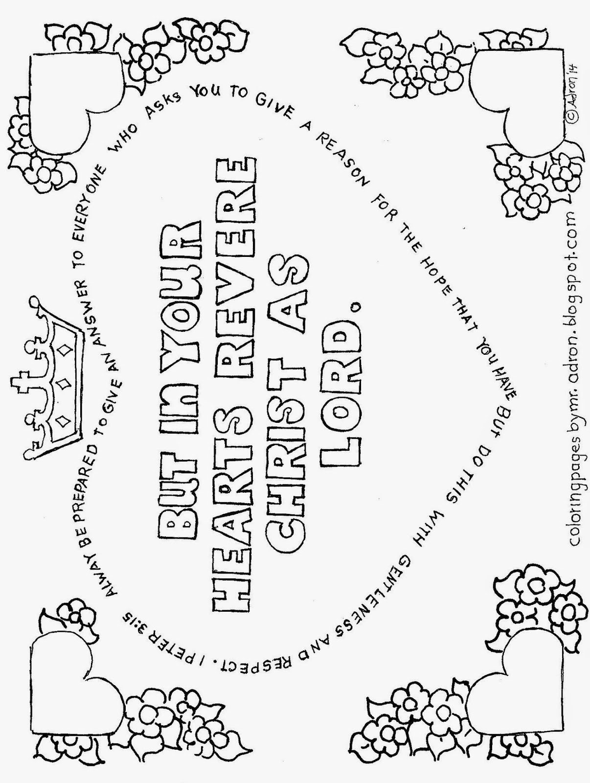 1 peter 5 7 coloring page coloring pages for kids by mr adron in your hearts 5 7 page coloring peter 1