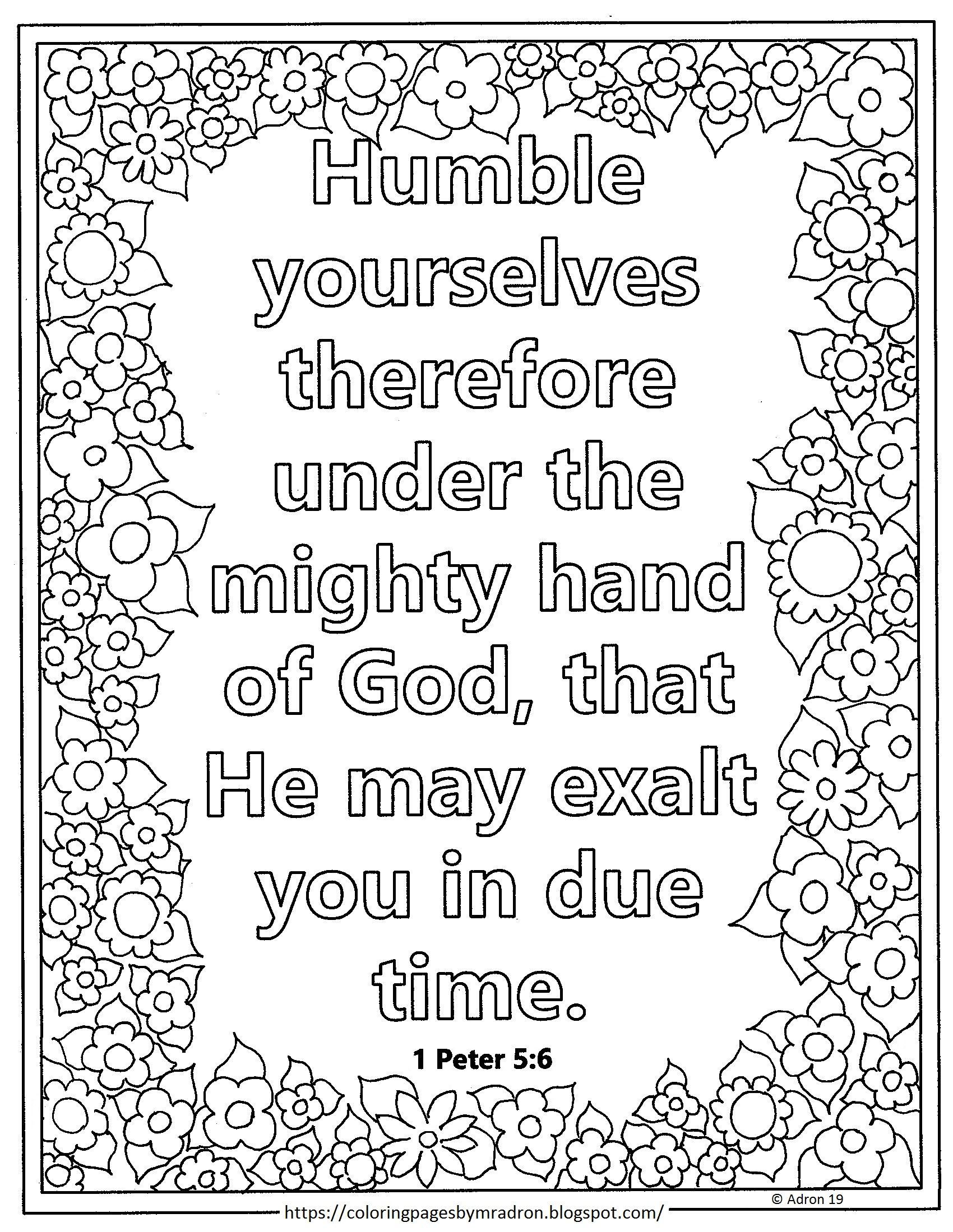 1 peter 5 7 coloring page free print and color page for lent day 7 1 peter 56 5 peter coloring 7 1 page