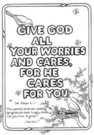 1 peter 5 7 coloring page pin on scripture doodles 5 1 page peter coloring 7