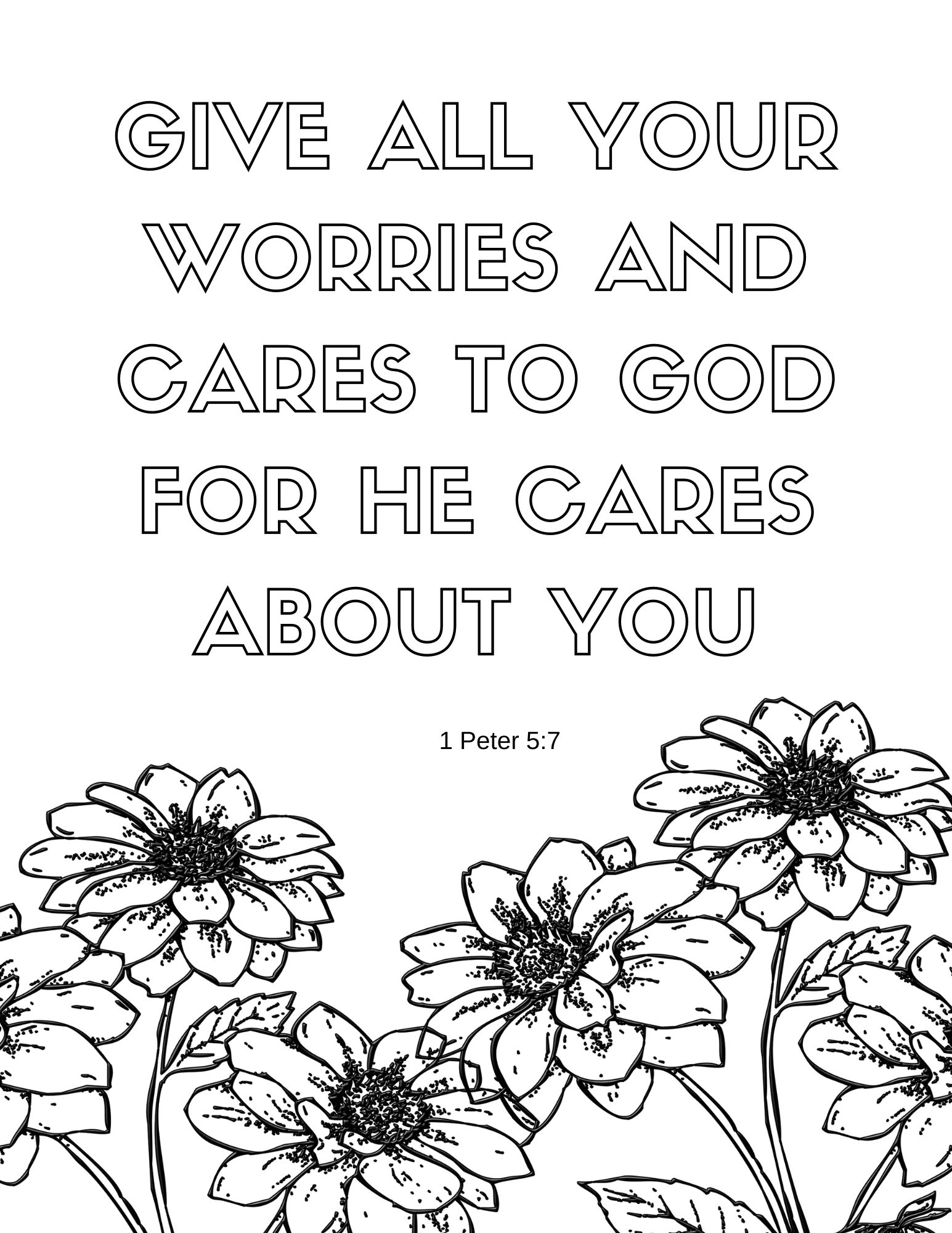 1 peter 5 7 coloring page printable 1 peter 5 7 coloring page hobbies creativity 5 1 peter page coloring 7