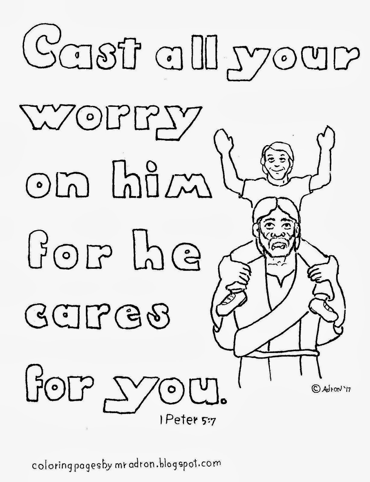 1 peter 5 7 coloring page printable 1 peter 5 7 coloring page hobbies creativity 7 coloring 5 1 peter page