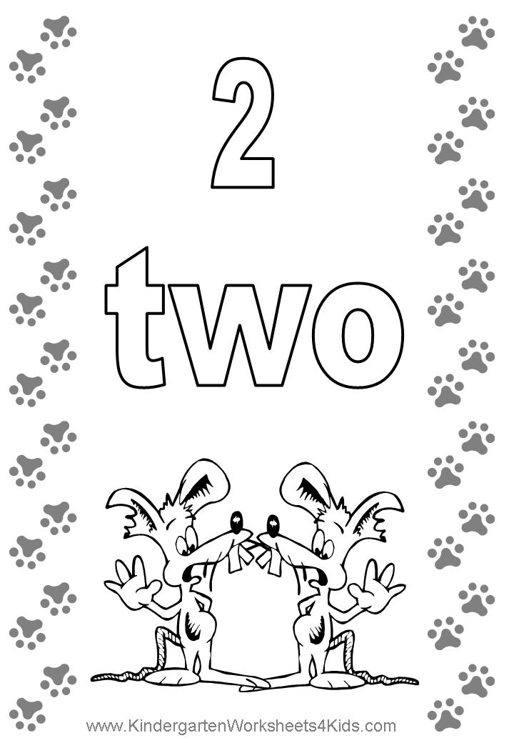2 coloring page 7 best images of printable numbers printable number page coloring 2