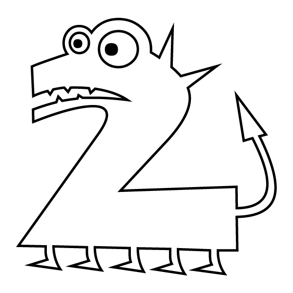 2 coloring page best numbers coloring pages coloring pages for kids to page coloring 2