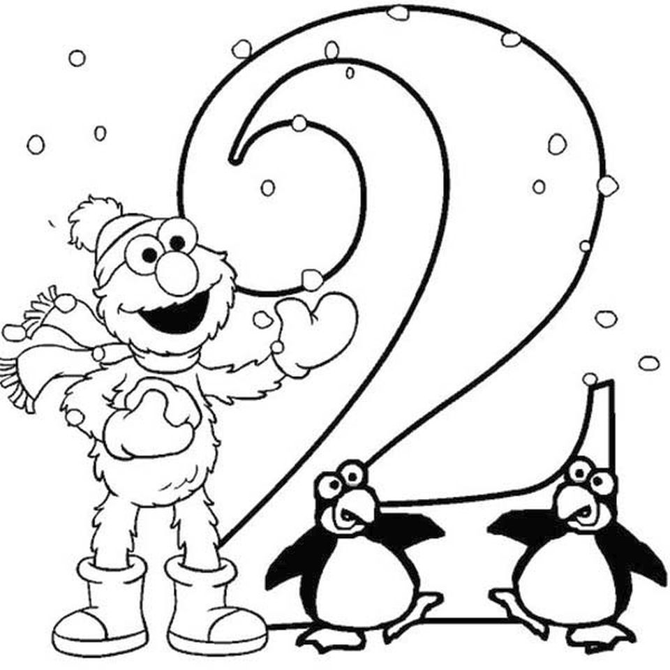 2 coloring page number 2 coloring pages for kids counting sheets coloring 2 page