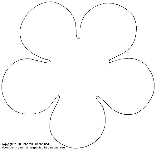 5 petal flower coloring page flower patterns and templates for scrapbooking coloring 5 petal flower page