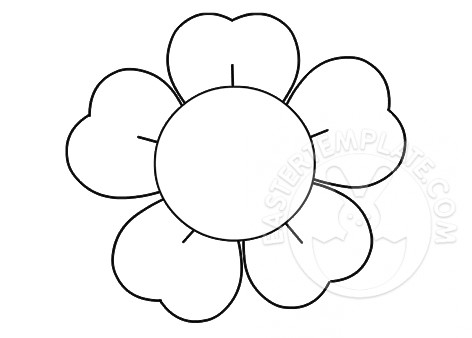 5 petal flower coloring page flower with five petals easter template coloring petal 5 flower page