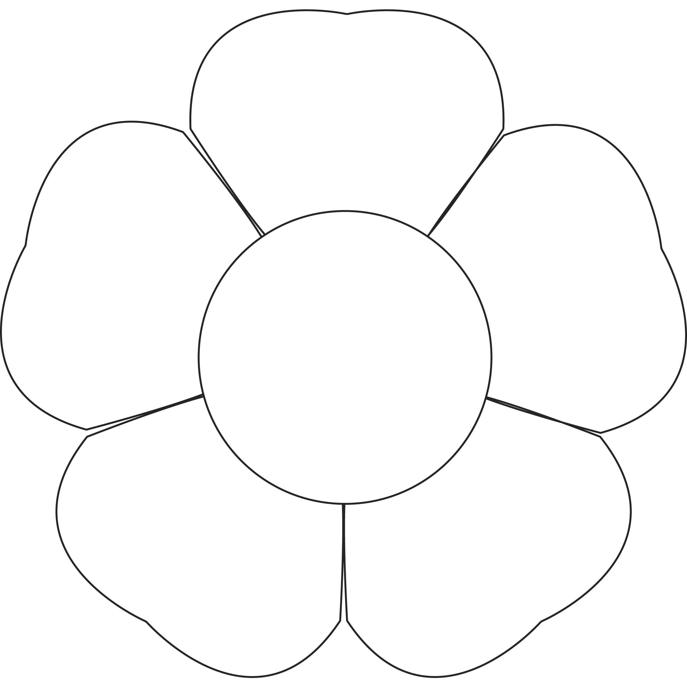5 petal flower coloring page petal paintings search result at paintingvalleycom coloring flower page 5 petal
