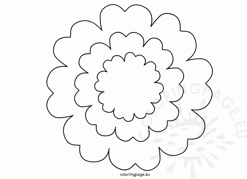 5 petal flower coloring page petal paintings search result at paintingvalleycom petal coloring 5 page flower