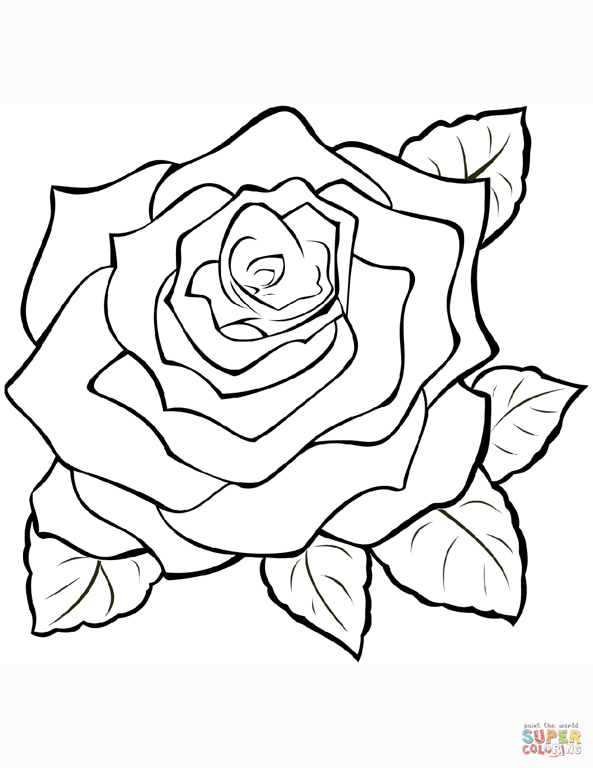 a coloring page of a rose rose coloring page free printable coloring pages coloring of rose page a a