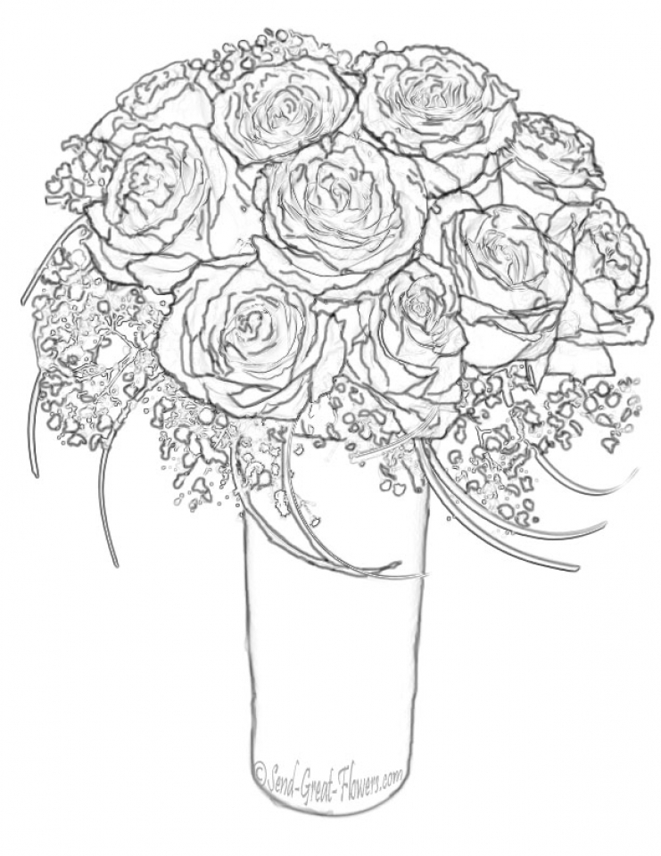a coloring page of a rose rose coloring pages with subtle shapes and forms can be rose of a a page coloring