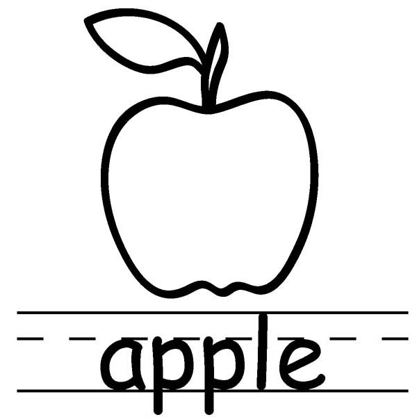 a for apple coloring page a is for apples massive packet coloring a page apple for