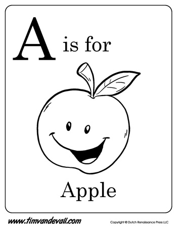 a for apple coloring page alphabet a is for apple on learning abc coloring page for page apple a coloring