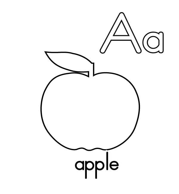 a for apple coloring page alphabet coloring pages letter a through l playing page apple coloring for a