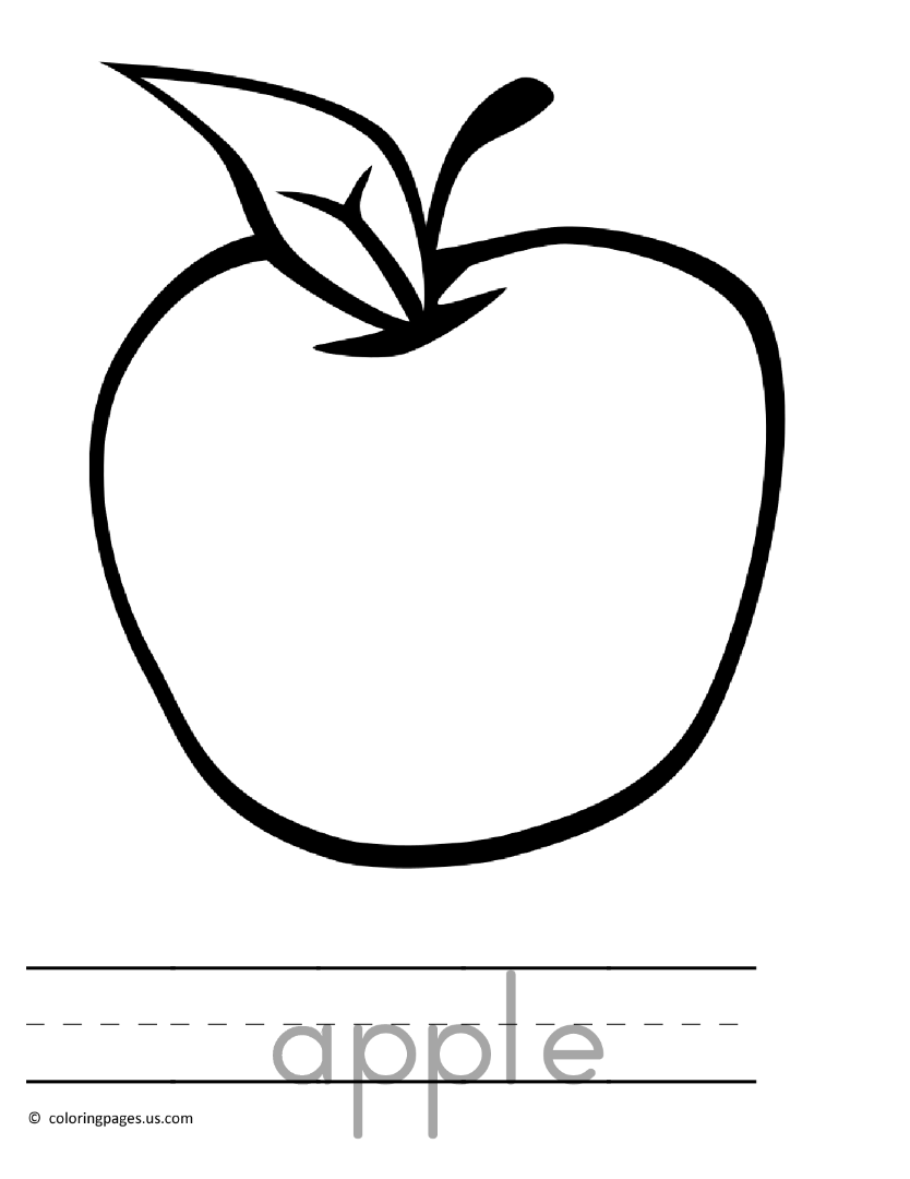 a for apple coloring page apple coloring pages page coloring for a apple
