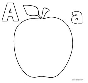 a for apple coloring page coloring activity pages quotaaquot apple coloring page apple a coloring page for