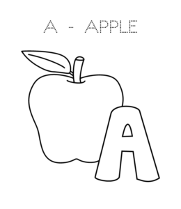 a for apple coloring page free printable apple coloring pages for kids page for coloring apple a