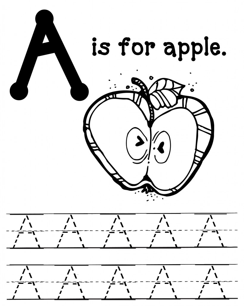 a for apple coloring page letter a worksheets alphabet printables apple a coloring for page