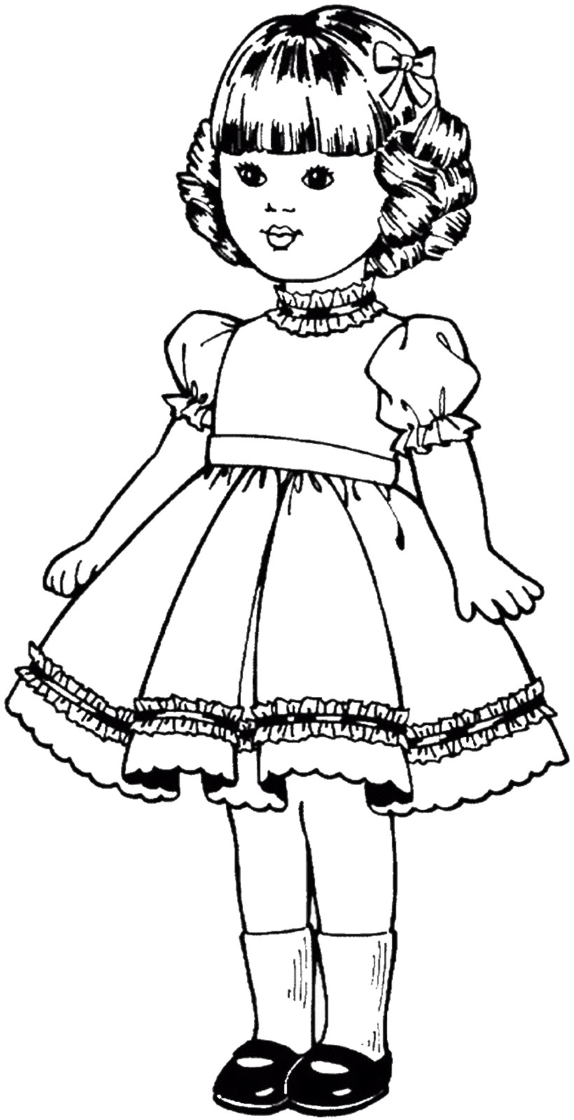 a picture to color dolls coloring pages picture to a color