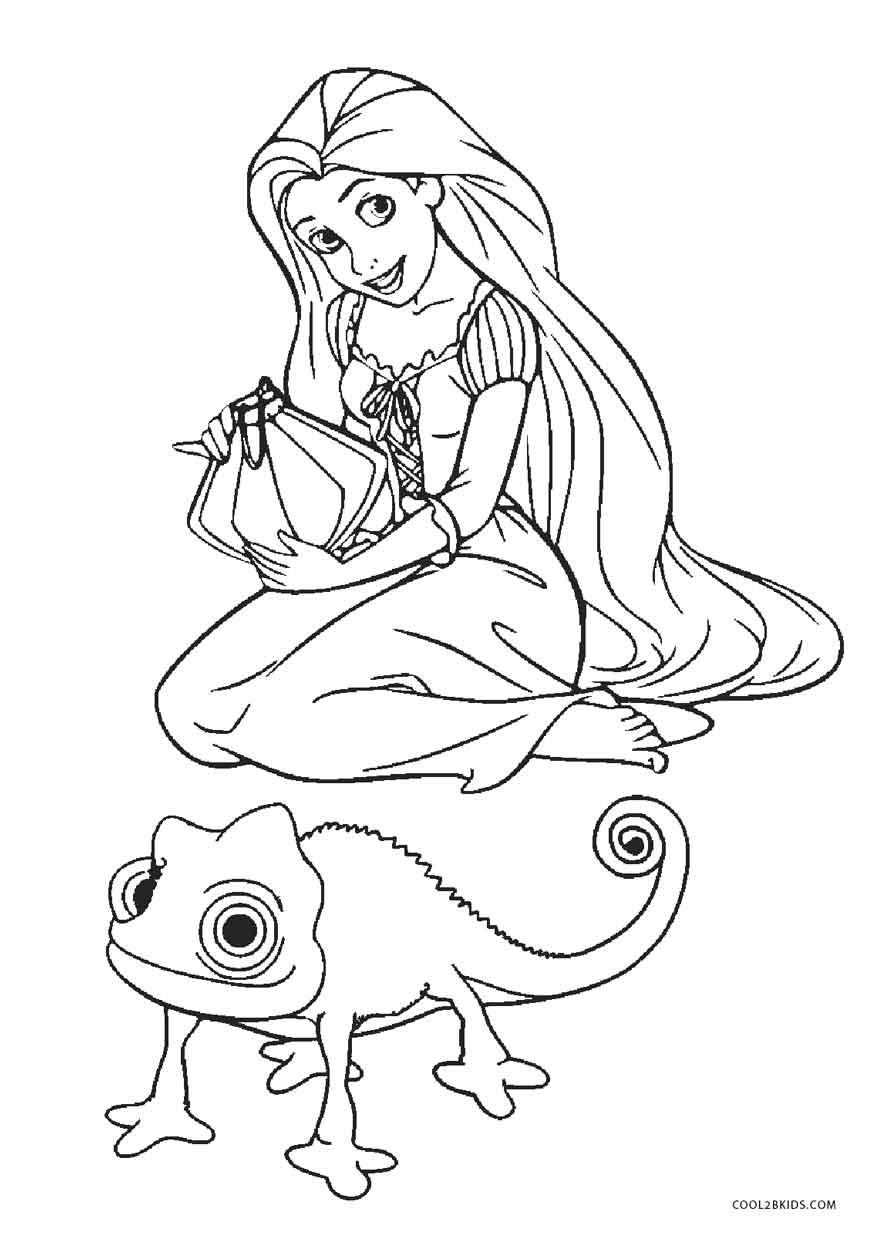 a picture to color free printable tangled coloring pages for kids a to picture color