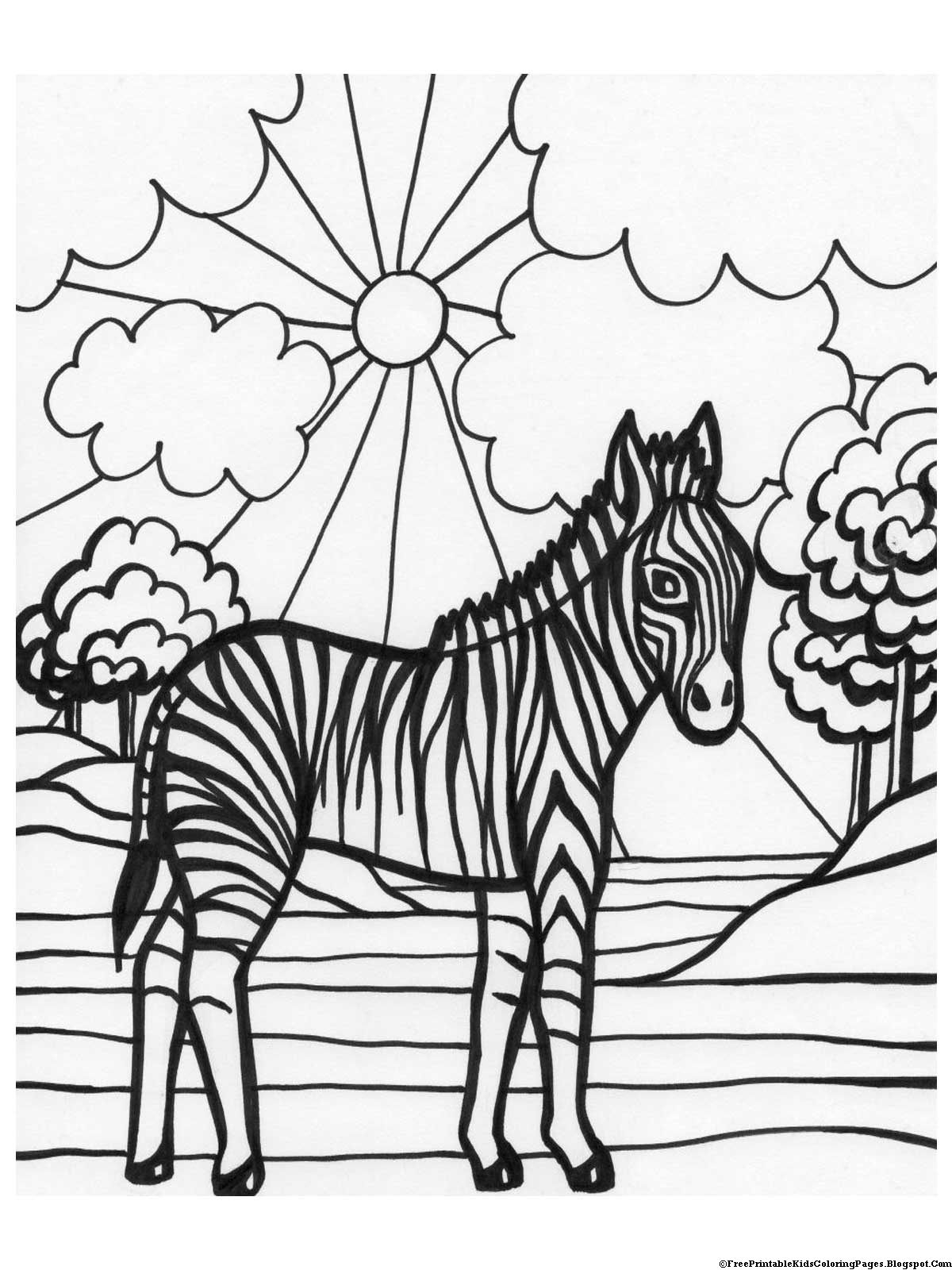 a picture to color zebra coloring pages free printable kids coloring pages to a picture color