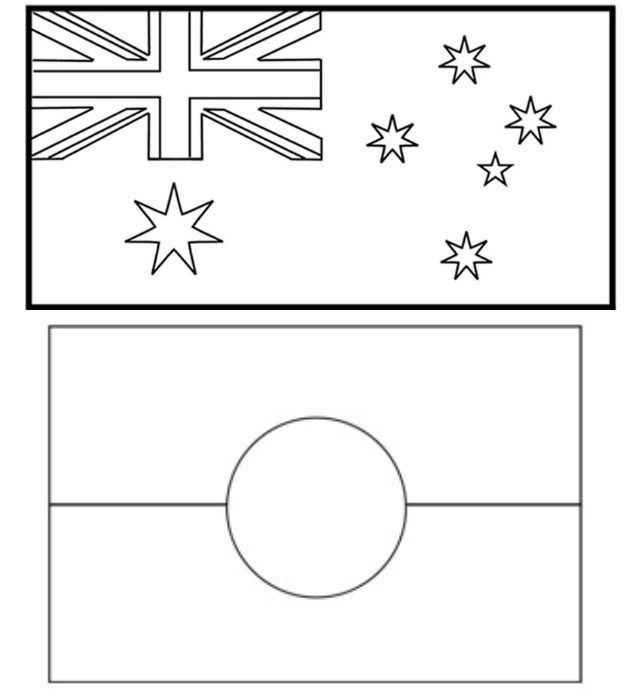 aboriginal flag colouring in world flags coloring pages in colouring aboriginal flag