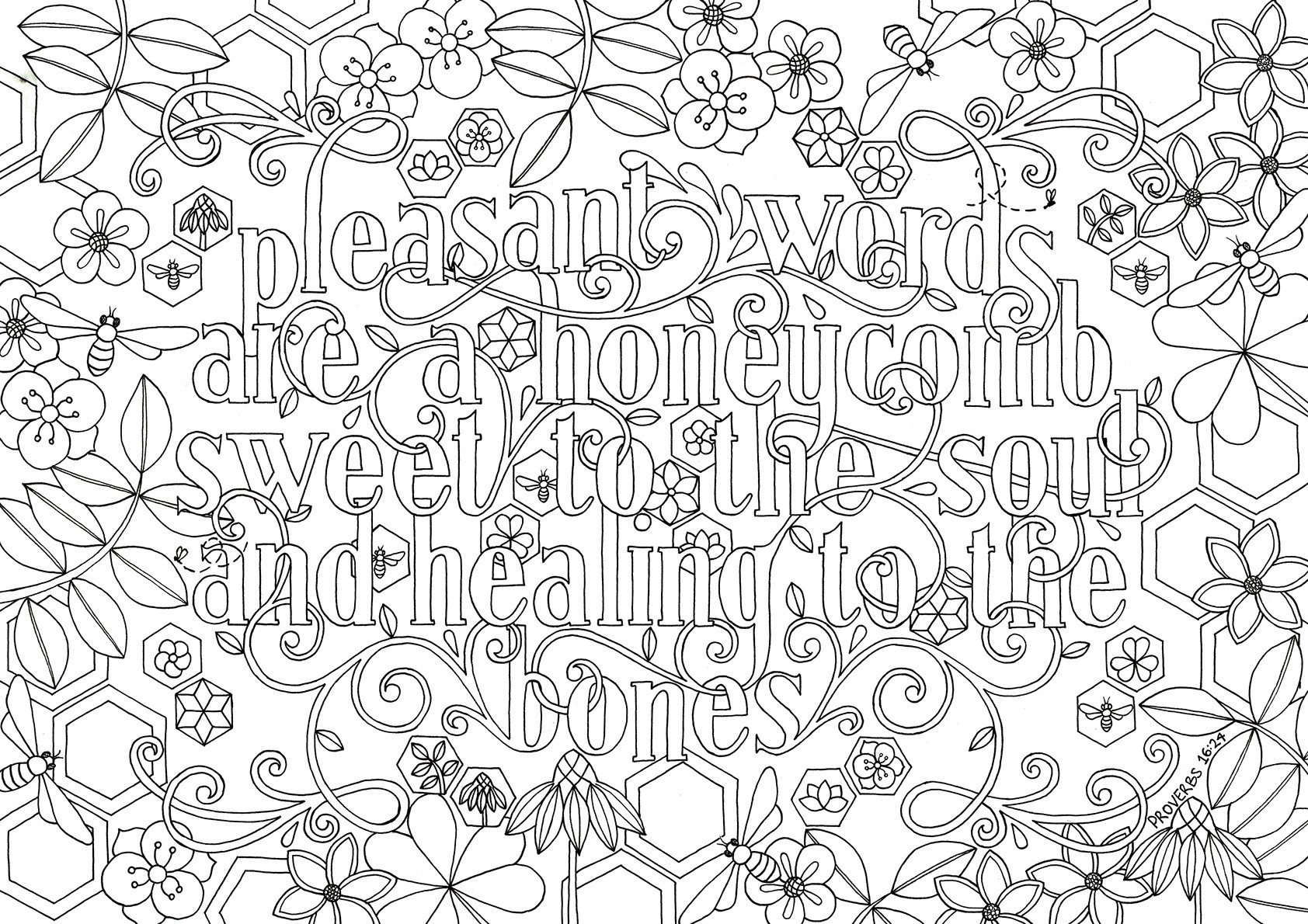 adults color coloring books bible verse coloring pages quote pleasant words are a books color adults coloring