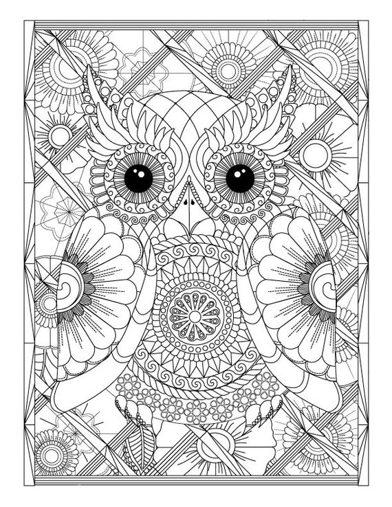 advanced coloring pages owl and flowers advanced coloring page for adults printable coloring advanced pages