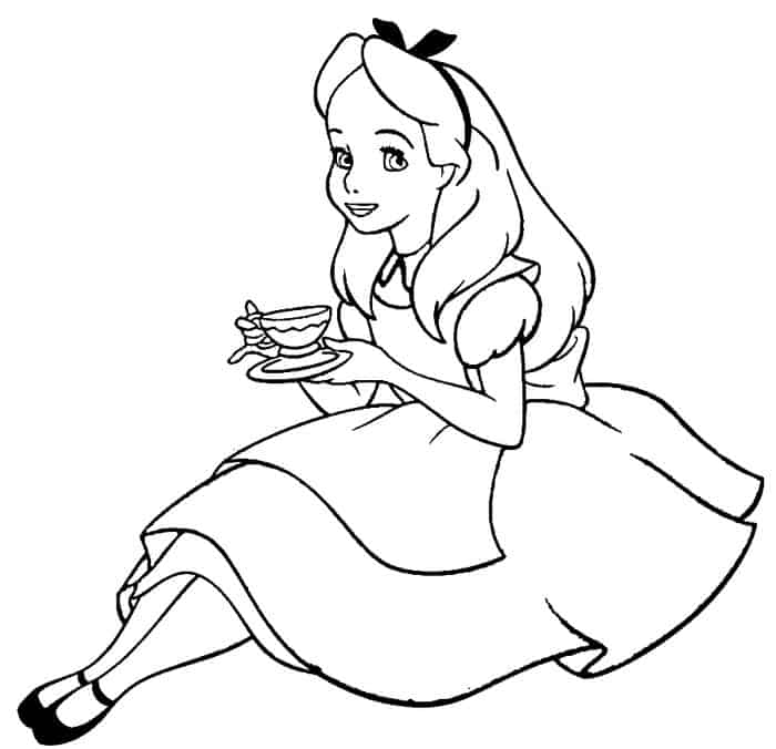 alice and wonderland coloring pages alice in the wonderland hurry up bunny coloring page and wonderland coloring pages alice