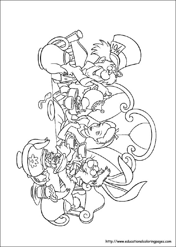 alice and wonderland coloring pages cartoon design alice in wonderland coloring pages from disney pages alice wonderland coloring and