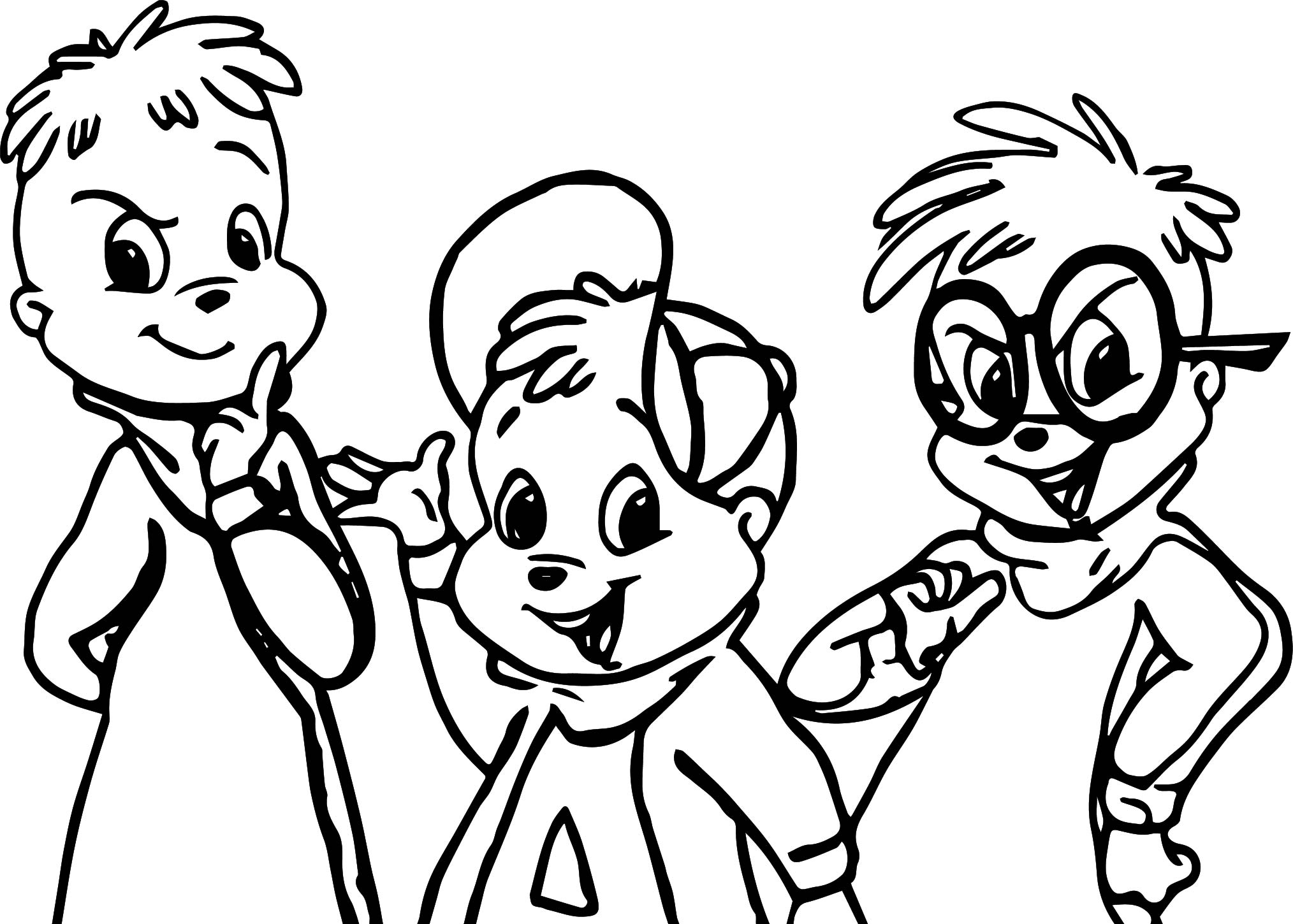 alvin and the chipmunks coloring pages alvin and the chipmunks coloring pages alvin chipmunks the coloring pages and