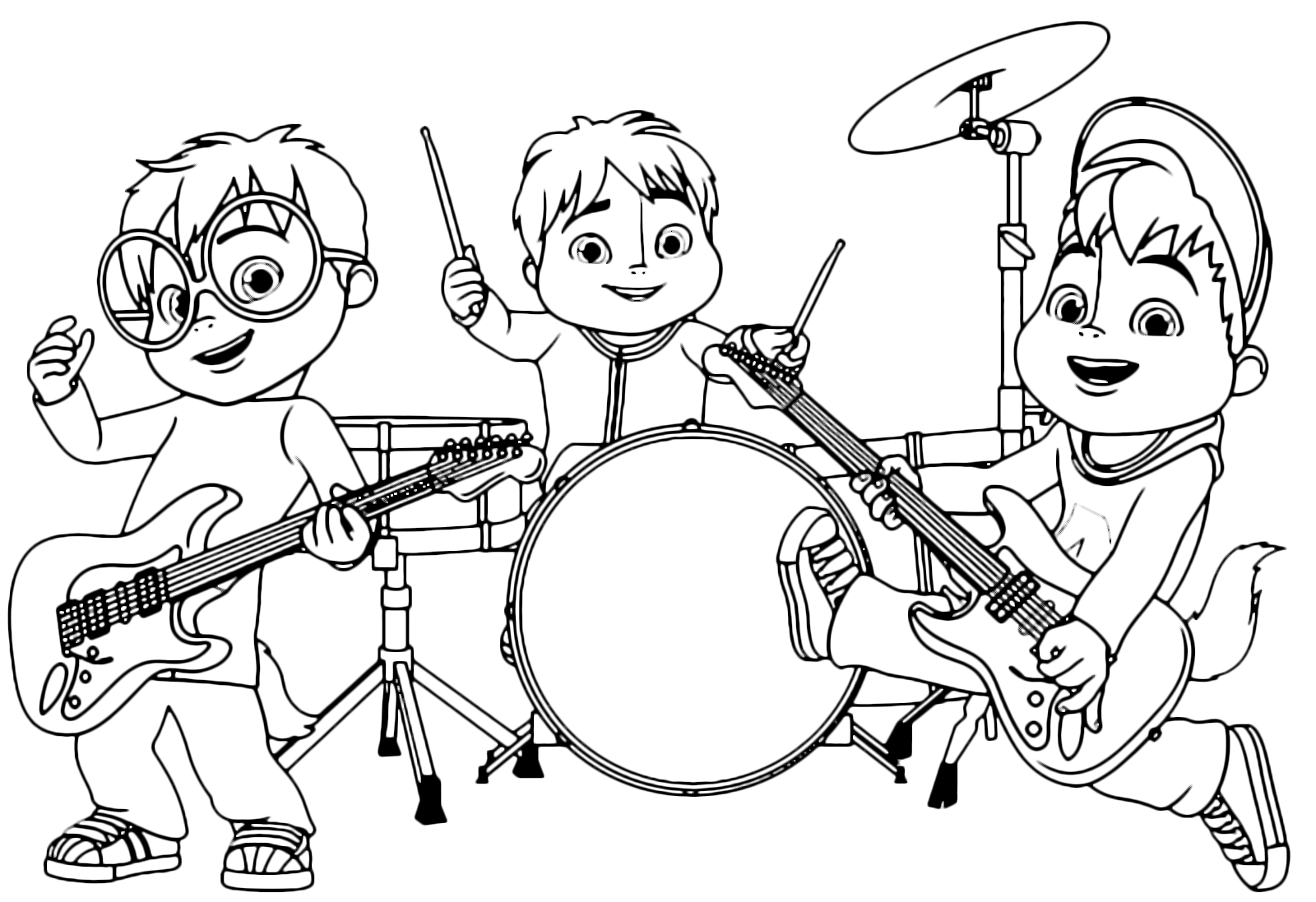 alvin and the chipmunks coloring pages alvin and the chipmunks coloring pages coloring chipmunks alvin pages and the