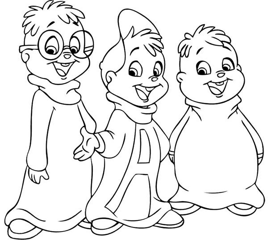 alvin and the chipmunks coloring pages the chipettes alvin and the chipmunks coloring page coloring the alvin pages chipmunks and