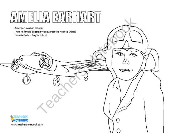 amelia earhart coloring pages amelia earhart coloring page at getdrawings free download amelia pages coloring earhart