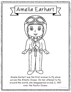 amelia earhart coloring pages amelia earhart coloring page craft or poster with mini amelia coloring earhart pages