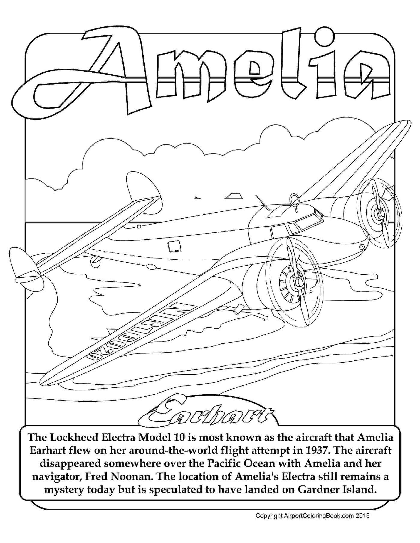 amelia earhart coloring pages amelia earhart modern history coloring book pinterest earhart coloring amelia pages