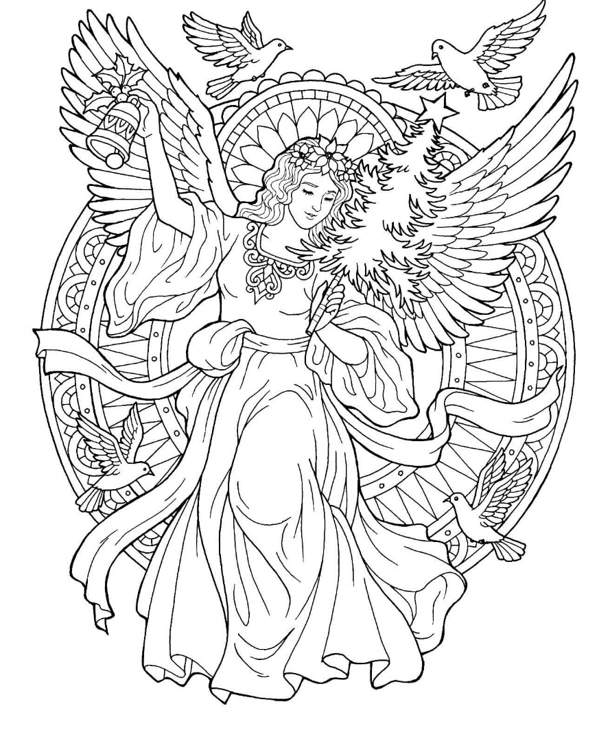 angel pictures to color 20 free printable angel coloring pages for adults to pictures angel color