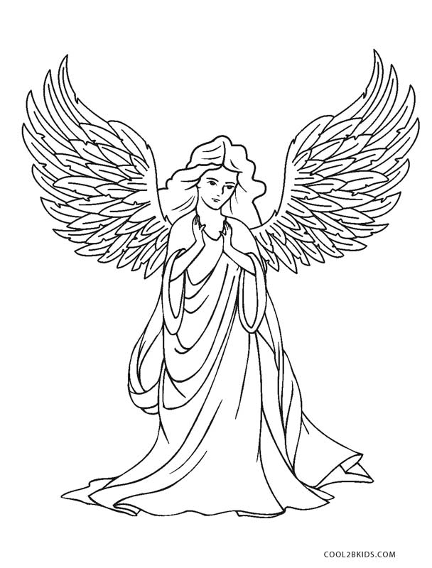 angel pictures to color free printable angel coloring pages for kids angel color pictures to